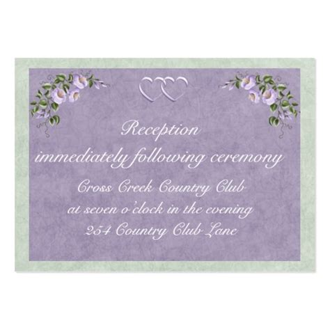 Card Insert Templates Wedding by Periwinkle Wedding Invitation Reception Insert Large