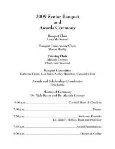 awards ceremony program template best photos of awards banquet agenda template awards