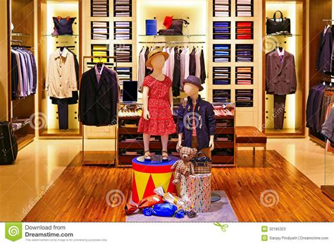 Shirts Shop Mens Shirts And Suiting Store Stock Photos Image 32185323