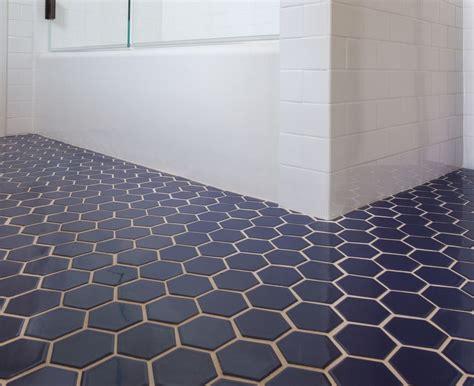 fireclay tile navy blue hex tile bathroom hexagon tile bathroom floor hexagon tile