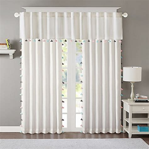 room darkening curtains white regency heights maya tassel room darkening window curtain