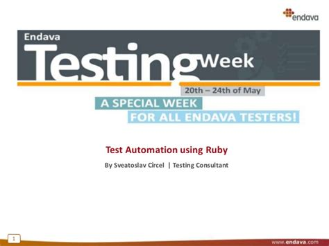 test automation using ruby