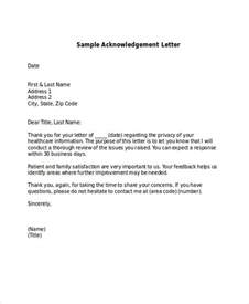 Acknowledgement Thank You Letter Format 41 Acknowledgement Letter Exles Sles