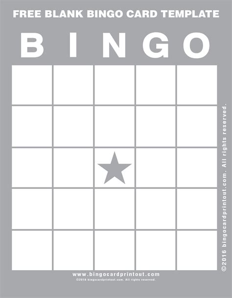 create your own bingo card template free blank bingo card template bingocardprintout