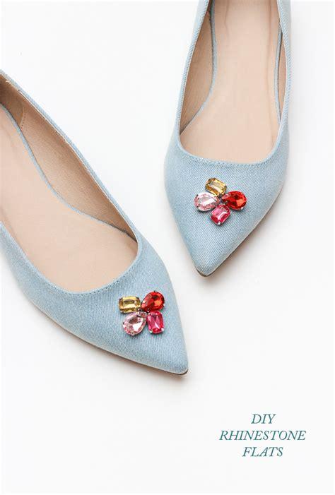 rhinestone shoes diy diy rhinestone flats the crafted