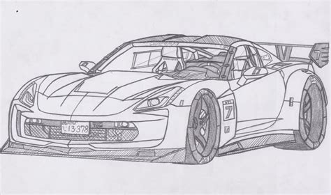 2013 corvette free colouring pages