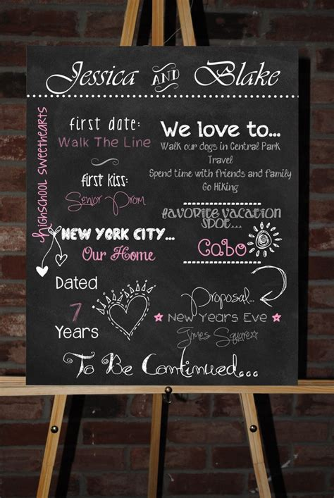 Wedding And Engagement Posters by 41 Best Engagement Chalkboard Poster Images On