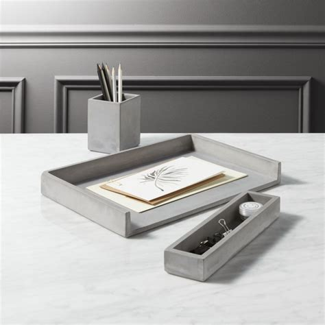 Design Desk Accessories Cement Desk Accessories Cb2