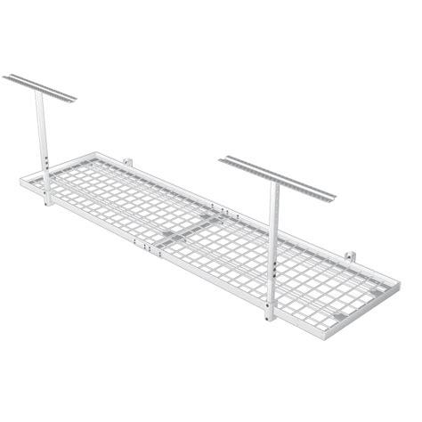 2 x8 600lb overhead wall shelf storage kit the garage