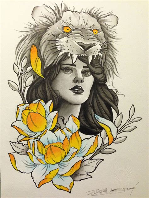 lion headdress tattoo with headdress www imgkid the