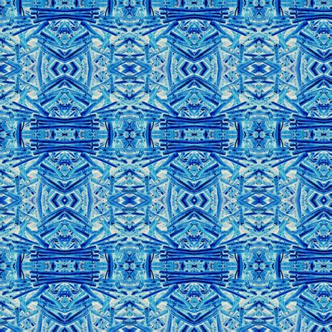 blue coral fabric olivemlou spoonflower
