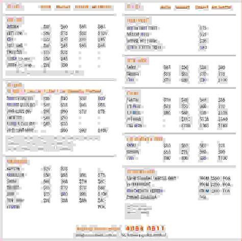 cake price list template 7 wedding price list procedure template sle