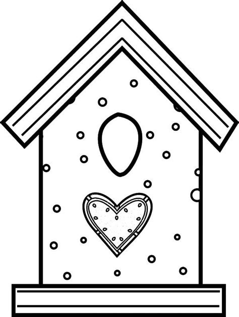 coloring pages bird houses bird house made from cookies coloring pages 600x795 jpg