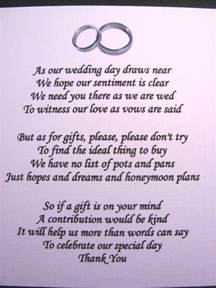 wedding gifts asking for money poems poem asking for donation just b cause