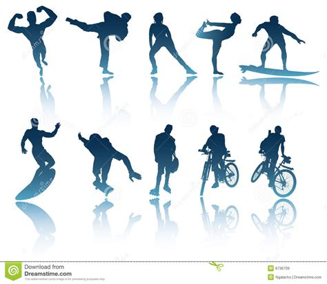 Sports Fitness sports fitness silhouettes stock vector image 6736709