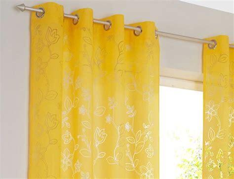 schlaufenvorhang blickdicht vorhang gelb jamgo co