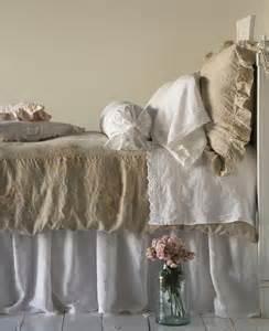 shabby chic linen bedding home