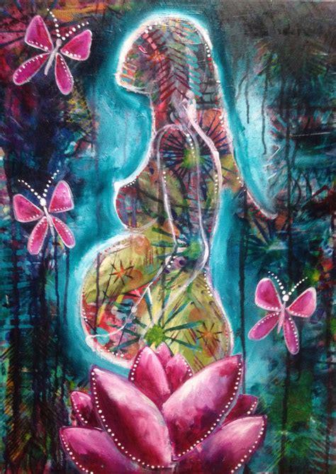 embarazadas arte mujer embarazada de arte original lienzo de pintura acr 237 lica
