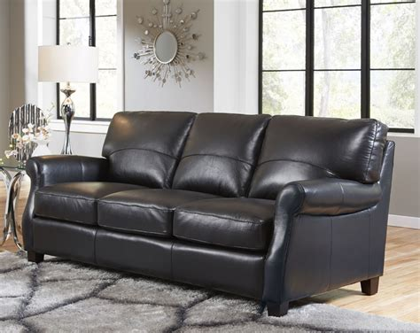 3 Leather Living Room Set lazzaro carlyle 3 leather living room set in black