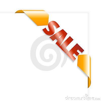 Orange Sale by Sale Orange And Corner Ribbon Royalty Free Stock