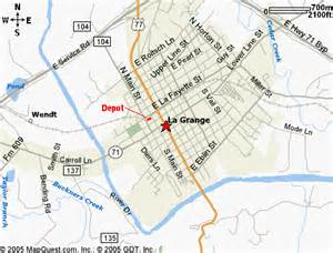 la grange texas map map courtesy of mapquest