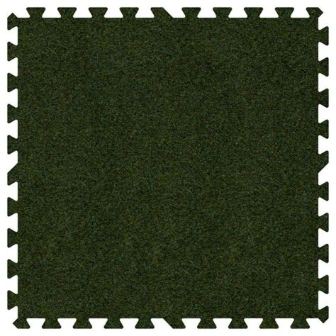 Home Depot Grass Mat by Groovy Mats Grass Green 24 In X 24 In Comfortable Carpet