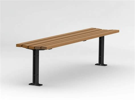 wood and steel bench backless steel and wood bench kajen collection by nola