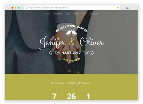 Wedding Bells Website by 25 Best Html Wedding Website Templates For 2017