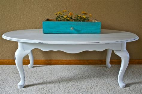 oval white distressed coffee table the painted piano