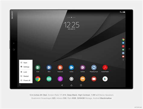 Sony Ericsson Tablet Z sony xperia z5 tablet ultra concept created by victor cao