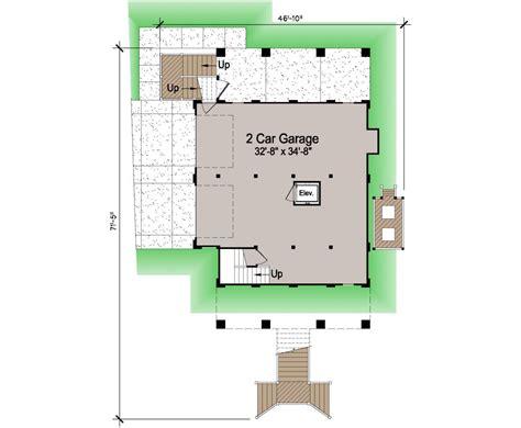Waterfront Cottage Floor Plans by Porches Cottage Piling Foundation Side Entrance Garage
