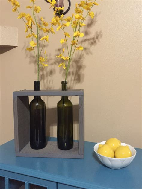 Wine Bottle Vase Centerpieces by Recycled Wine Bottle Wine Box Wine Bottle Vase Wine Bottle
