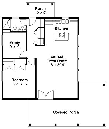 Guest Cottage Floor Plans by Guest Cottage Floor Plan Houseplans