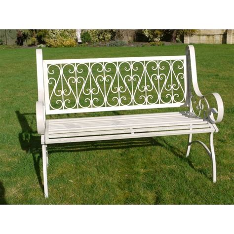 ornate garden bench white ornate metal garden bench swanky interiors