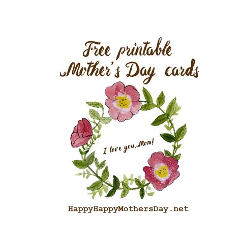 Happy Mothers Day Printable Cards