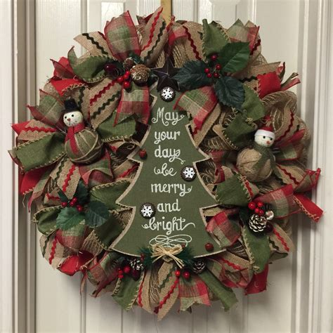 when to put deco wreath on christmas tree a personal favorite from my etsy shop https www etsy listing 254533005 deco mesh