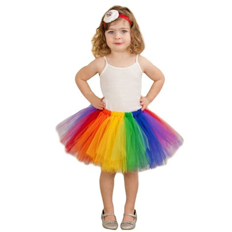 Diskon Rok Tutu 3 Warna summer fluffy 3 layer rainbow tutu skirts baby tulle tutu skirt children baby