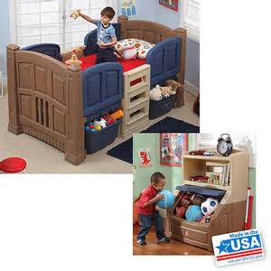 buy step2 boys loft storage bed w bookcase storage