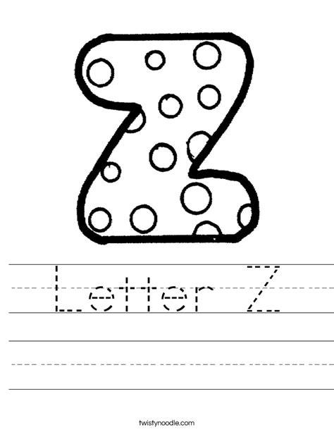 letter z worksheet letter z worksheet twisty noodle