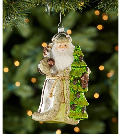 dillard s trimmings santa with christmas tree ornament