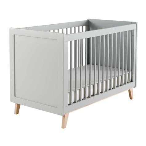 letto neonati letto grigio a sbarre in legno per neonati l 126 cm sweet