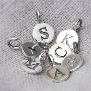 sterling silver embossed letter charms by bloom boutique