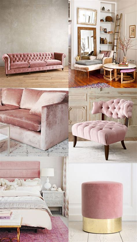 trend alert pink copper design color trends pinterest home decor trend velvet cocorosa living dining