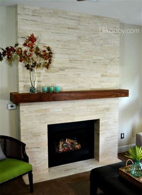 fireplace modern stone makeover before after, diy