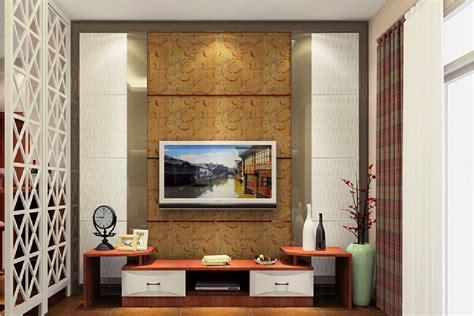 interior design living room tv wall south korean style
