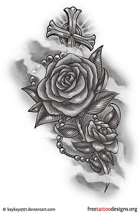 roses and cross tattoos designs 24 tattoos and design ideas