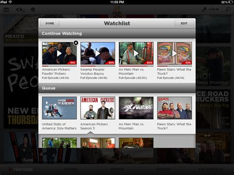 History Channel for iPad ? phillip walker
