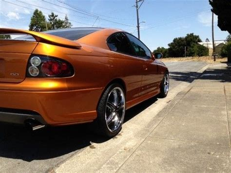 auto air conditioning service 2006 pontiac gto parking system sell used 2006 pontiac gto ls2 6 speed brazen orange staggered dub wheels in redwood city