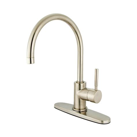 satin nickel kitchen faucets shop elements of design concord satin nickel 1 handle high
