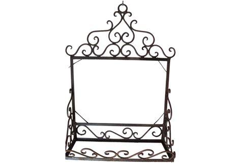 vintage wrought iron shelf mirror back unit omero home